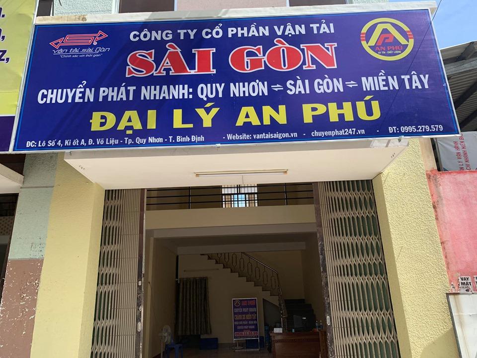bảng hiệu chi nhánh chuyển phát nhanh An Phú tại Quy Nhơn